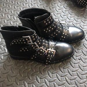 BNWT women's Mossimo studded moto boots